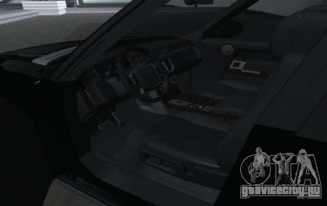 Land Rover Range Rover Vogue для GTA San Andreas вид изнутри