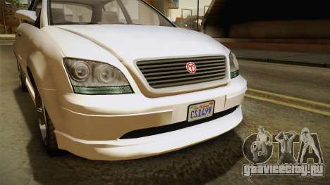 GTA 5 Emperor Habanero IVF для GTA San Andreas вид изнутри
