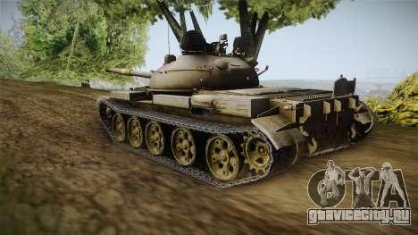 T-62 Desert Camo v1 для GTA San Andreas вид сзади слева