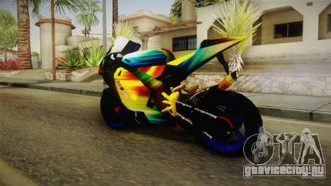 Rainbow Motorcycle для GTA San Andreas вид слева