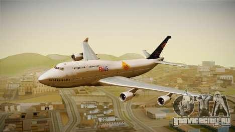 Boeing 747-400 FlyUS with NMB Logo для GTA San Andreas