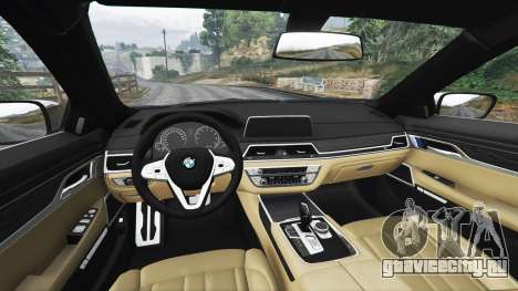 BMW 750i xDrive M Sport (G11) [add-on] для GTA 5 вид справа