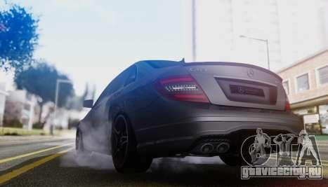 Mercedes-Benz C63 AMG w204 для GTA San Andreas вид сзади