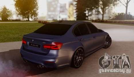 BMW M3 F30 30 Jahre для GTA San Andreas вид слева