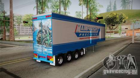 Trailer 4 Axle для GTA San Andreas вид слева