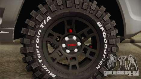 Toyota 4runner 2010 для GTA San Andreas вид сзади