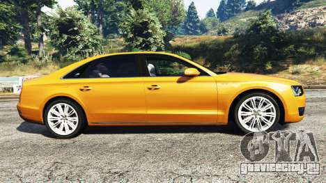 Audi A8 L (D4) 2013 [replace] для GTA 5 вид слева
