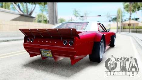 GTA 5 Declasse Tampa Drift IVF для GTA San Andreas вид слева