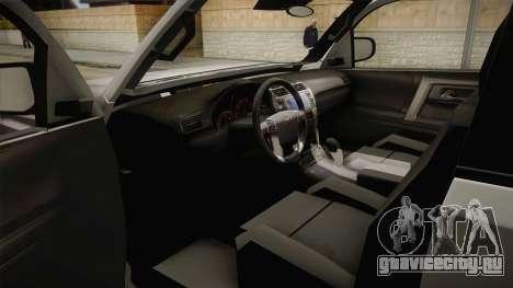 Toyota 4runner 2010 для GTA San Andreas вид изнутри