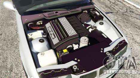BMW 328i (E36) M-Sport [replace] для GTA 5 вид сзади справа