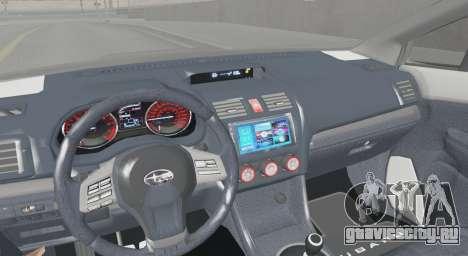 Subaru WRX STI LP400R 2016 для GTA San Andreas вид справа