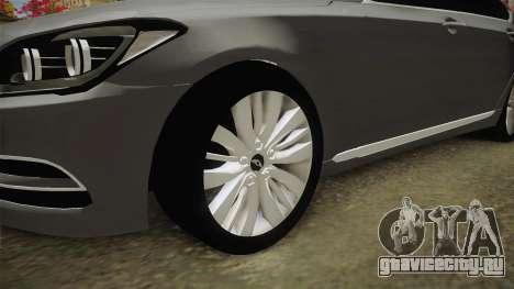 Hyundai Genesis 2016 v1.2 для GTA San Andreas вид сзади