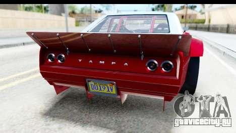GTA 5 Declasse Tampa Drift IVF для GTA San Andreas вид снизу