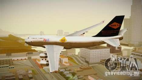 Boeing 747-400 FlyUS with NMB Logo для GTA San Andreas вид слева