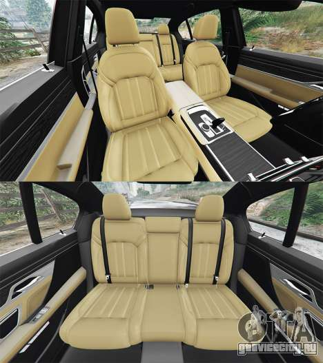 BMW 750i xDrive M Sport (G11) [add-on] для GTA 5 вид спереди справа