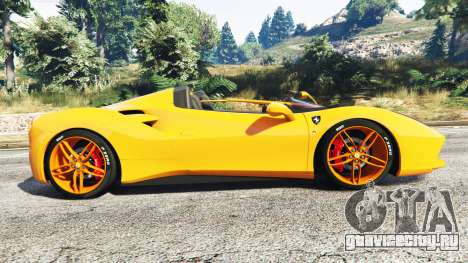 Ferrari 488 Speedster 2016 [replace] для GTA 5 вид слева