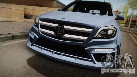 Mercedes-Benz GL63 Brabus для GTA San Andreas вид сзади слева