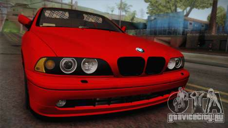 BMW 530d E39 Red Black для GTA San Andreas вид справа
