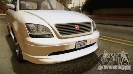 GTA 5 Emperor Habanero IVF для GTA San Andreas вид сзади