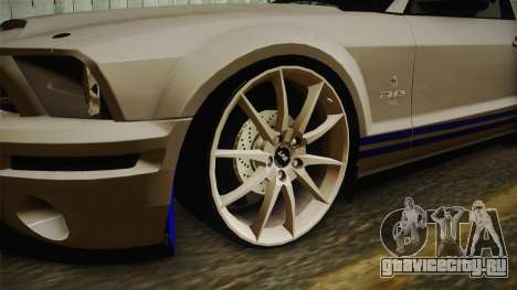 Ford Mustang Shelby GT500KR Super Snake для GTA San Andreas вид сзади