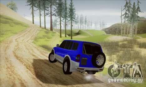 Mitsubishi Pajero 3 Beta для GTA San Andreas вид сзади слева