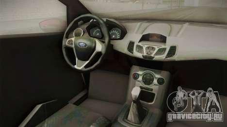 Ford Fiesta 2009 для GTA San Andreas вид изнутри