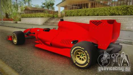Lotus F1 T125 для GTA San Andreas вид слева