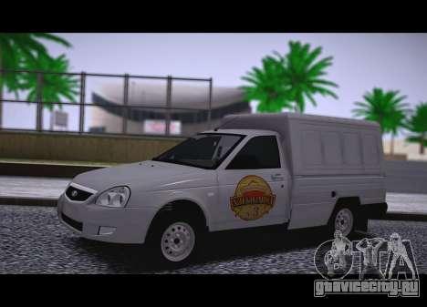 Lada Priora Budka для GTA San Andreas вид сзади слева