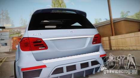 Mercedes-Benz GL63 Brabus для GTA San Andreas вид справа