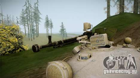 T-62 Desert Camo v1 для GTA San Andreas вид сзади