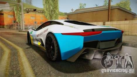Jaguar C-X75 Ika Musume Itasha для GTA San Andreas вид справа