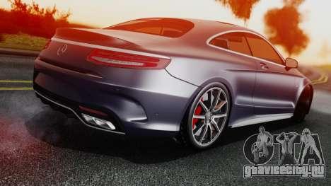Mercedes-Benz S-Class Coupe AMG для GTA San Andreas вид сзади слева