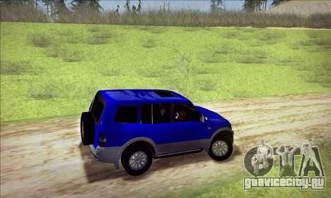 Mitsubishi Pajero 3 Beta для GTA San Andreas вид сзади