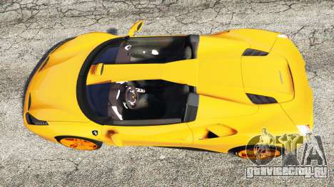 Ferrari 488 Speedster 2016 [replace] для GTA 5 вид сзади