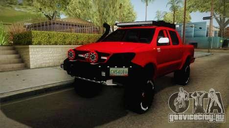 Toyota Hilux 2010 Venezolana de Off Road для GTA San Andreas