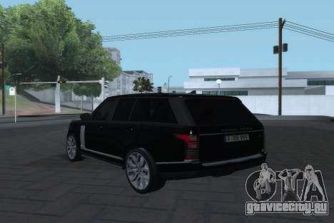 Land Rover Range Rover Vogue для GTA San Andreas вид слева
