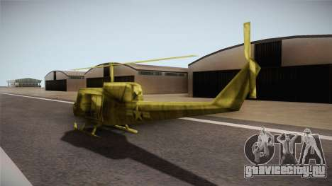 Bell UH-1H from Army Men: Serges Heroes 2 DC для GTA San Andreas вид сзади слева