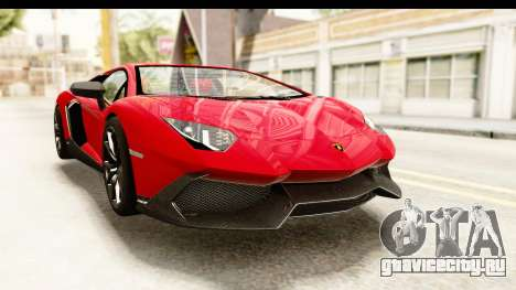 Lamborghini Aventador LP720-4 2013 для GTA San Andreas вид справа