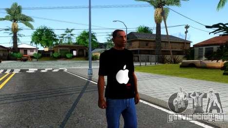 Apple T-shirt для GTA San Andreas второй скриншот