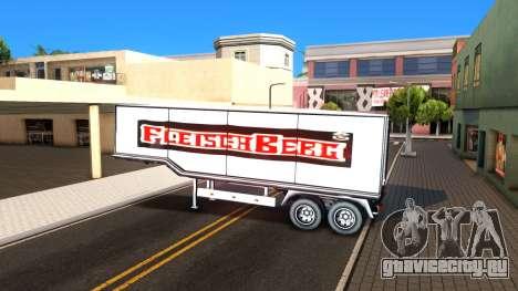 Box Trailer V2 для GTA San Andreas вид изнутри