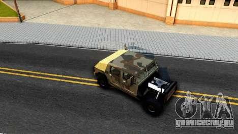 New Patriot GTA V для GTA San Andreas вид сзади
