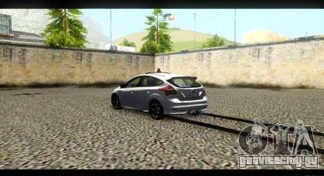 Ford Focus ST 2013 Учебный для GTA San Andreas вид сзади слева