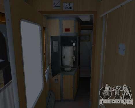 Купейный вагон Украинских Железных дорог для GTA San Andreas колёса