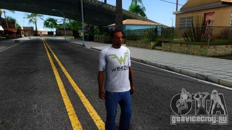 Weezer T-Shirt для GTA San Andreas второй скриншот
