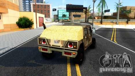 New Patriot GTA V для GTA San Andreas вид сзади слева