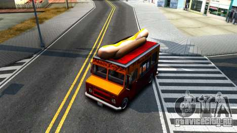 New HotDog Van для GTA San Andreas вид изнутри