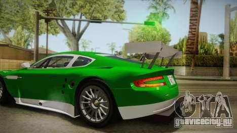 Aston Martin Racing DBR9 2005 v2.0.1 YCH для GTA San Andreas вид сзади