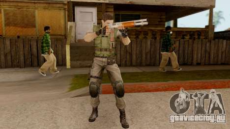 Resident Evil HD - Chris Redfield S.T.A.R.S для GTA San Andreas третий скриншот