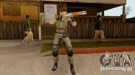 Resident Evil HD - Chris Redfield S.T.A.R.S для GTA San Andreas третий скриншот