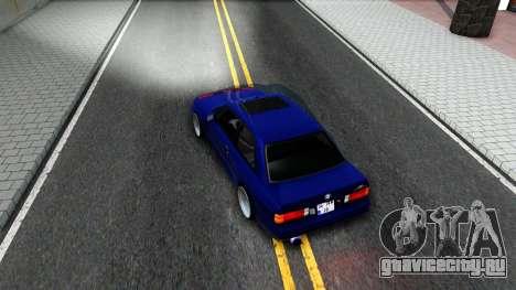 BMW E30 для GTA San Andreas вид изнутри